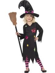 déguisement de sorcière enfant, déguisement halloween fille, déguisement halloween enfant, déguisement sorcière halloween enfant, déguisement sorcière halloween fille, costume halloween enfant, costume sorcière fille Déguisement de Sorcière Chat, Fille