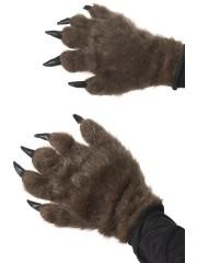 mains de loup, mains d'ours, mains de monstre, gants de monstre déguisement, gants de loup déguisement, accessoire gants déguisement Gants en Fausse Fourrure et Griffes