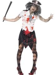 déguisement de policière zombie, déguisement halloween femme, costume halloween adulte, déguisement police zombie femme, déguisement zombie femme Déguisement Policière Zombie