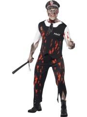 déguisement de policier zombie, déguisement halloween homme, déguisement police halloween, costume halloween homme Déguisement Policier Zombie