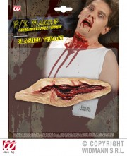 blessure gorge tranchée halloween, blessure halloween, maquillage blessure halloween, maquillage halloween latex, fausses cicatrices halloween, maquillage halloween Blessure, Gorge Tranchée
