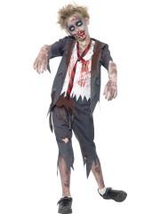 déguisement halloween enfant, déguisement enfant halloween, déguisement zombie enfant, costume halloween enfant, déguisement enfant diable, déguisement garçon halloween, déguisement halloween garçon, déguisement zombie enfant, déguisement écolier zombie garçon Déguisement d'Ecolier Zombie, Garçon