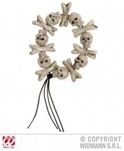 bracelet os et cranes, bracelet têtes de mort, bracelets de déguisement, bijoux pas cher halloween, accessoires halloween, bracelet fausses têtes de mort, accessoires pirates Bracelet Têtes de Mort et Os