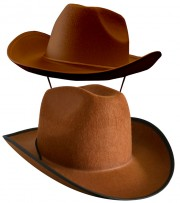 chapeau de cowboy, chapeaux de cowboys, chapeaux de cow boy, accessoires déguisement cowboy Chapeau de Cowboy, Houston, Marron