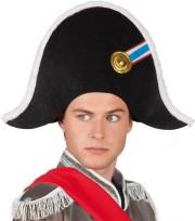 bicorne de napoléon, chapeau de napoléon, accessoires déguisement napoléon, bicorne révolution française, chapeau de bonaparte Chapeau Bicorne de Napoléon
