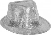 chapeaux borsalino, chapeaux paillettes, chapeau à sequins, accessoires chapeaux, chapeaux paris, chapeaux forme année 30 Chapeau Borsalino Paillettes Sequins, Argent