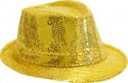 chapeaux borsalino, chapeaux paillettes, chapeau à sequins, accessoires chapeaux, chapeaux paris, chapeaux forme année 30 Chapeau Borsalino Paillettes Sequins, Or