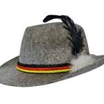 chapeau bavarois, chapeaux tyroliens, accessoires déguisement bavarois, chapeaux tyrol, chapeaux paris Chapeau de Bavarois, Tyrolien, Gris