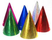 chapeaux pointus, chapeau pointu, chapeau pointu de fete, cotillons et chapeaux pointus, chapeaux de cotillons, chapeaux de fête, cotillons de réveillon Chapeaux Pointus Métallisés x 6