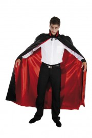 cape noire halloween, cape halloween adulte, cape satin noir déguisement, cape déguisement halloween, cape adulte halloween, cape noire adulte halloween, cape diable halloween, cape réversible adulte déguisement, cape dracula déguisement, déguisement dracula halloween Cape Noire et Rouge, Réversible, Satin