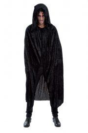 accessoire cape déguisement, déguisement cape halloween, cape noire déguisement, cape déguisement homme, cape déguisement adulte, cape halloween, cape carnaval de venise, cape à capuche déguisement Cape Noire à Large Capuche, Velours