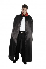 cape noire halloween, cape halloween adulte, cape satin noir déguisement, cape déguisement halloween, cape adulte halloween, cape noire adulte halloween Cape Noire, Satin, avec Col Rouge