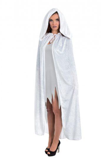 accessoire cape déguisement, déguisement cape halloween, cape blanche déguisement, cape déguisement femme, cape déguisement adulte, cape halloween, cape carnaval de venise Cape Blanche, à Large Capuche, Velours