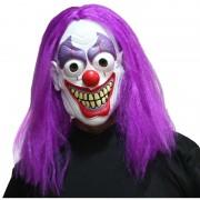 masque de clown, masque de déguisement, masque accessoire déguisement, accessoire masque déguisement, masque halloween, accessoire déguisement halloween, masque clown effrayant Masque de Clown avec Cheveux