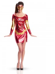 déguisement iron girl femme, costume iron man pour femme, costume iron girl, déguisement super héros femme, costume super héros femme, costume super héros adulte, déguisement super héros adulte Déguisement Iron Girl™