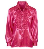 chemise disco homme, déguisement disco homme, costume disco homme, chemise années 80 homme, déguisement années 80 homme, chemise à jabot déguisement, chemise disco rose Déguisement Disco, Chemise Jabot Rose