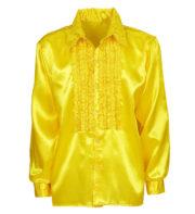 chemise disco homme, déguisement disco homme, costume disco homme, chemise années 80 homme, déguisement années 80 homme, chemise à jabot déguisement, chemise disco jaune Déguisement Disco, Chemise Jabot Jaune