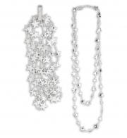 collier étoiles argent déguisement, collier d'étoiles déguisement, collier pour déguisement, accessoires de déguisement, étoiles argent Collier Etoiles d'Argent