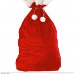 hotte de père noel, accessoire père noel déguisement, accessoire déguisement père noël Hotte du Père Noël, Velours