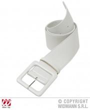 ceinture vinyle blanche, ceinture paillette, ceinture déguisement, accessoire déguisement, ceinture disco, accessoire disco, ceinture soirée disco, ceinture années 60, accessoires années 60, ceinture blanche Ceinture Vinyle, Blanche