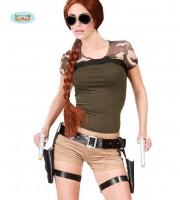 lara croft, holsters lara croft, pistolets lara croft, étuis de pistolets, étuis de révolver, étuis et ceinture lara croft, ceinture lara croft Ceinture Holster Lara Croft, Avec Pistolets