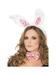 oreilles de lapin, accessoire oreilles de lapin déguisement, déguisement de lapin, accessoire lapin déguisement, accessoire déguisement lapin, accessoire oreilles de lapin, oreilles de lapin déguisement Kit Oreilles de Lapin, Sequins Roses