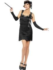 robe charleston déguisement, déguisement charleston, déguisement années 30, robe années 20, costume cabaret, déguisement cabaret femme, déguisement robe charleston Déguisement Charleston, Flapper Foxy, Noir