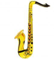 saxophone gonflable, accessoire déguisement musicien, accessoire musicien déguisement, faux instrument de musique, instrument musique déguisement Saxophone Gonflable, Jaune, Orange ou Rose