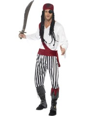 déguisement de pirate homme, déguisement pirate adulte, déguisement pirate, costume pirate homme Déguisement Pirate, Black and White