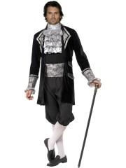 déguisement vénitien, costume vénitien, déguisement carnaval de venise, déguisement de marquis, costume de marquis déguisement, déguisement marquis adulte, déguisement marquis homme, déguisement baroque homme Déguisement Marquis ou Vampire Baroque, Silver
