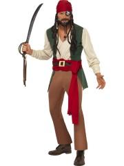 déguisement de pirate homme, déguisement pirate adulte, déguisement pirate, costume pirate homme Déguisement Pirate Caraïbien