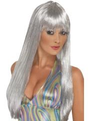 perruque pour femme, acheter perruque femme à paris, perruque de déguisement, perruque pas cher, perruque argent, perruque glitter disco Perruque Argent