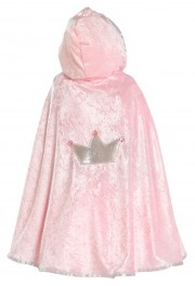 cape de princesse pour enfant, princesse fille Cape de Princesse Velours, Rose ou Lilas, Fille