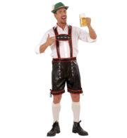 déguisement bavarois homme, costume bavarois homme, déguisement tyrolien homme, costume tyrolien homme, salopette bavaroise déguisement, déguisement homme, déguisement fête de la bière, déguisement oktoberferst Déguisement Bavarois, Lederhosen Simili Cuir