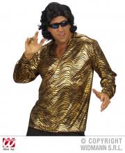 chemise disco fever, chemise disco homme, costume disco homme, déguisement disco homme, accessoire disco déguisement, chemise argent homme, chemise dorée homme, chemise années 70 homme, déguisement années 70 homme, costume années 70 homme Déguisement Disco, Chemise Fever Or