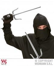 paire de saï en plastique, armes japonaises en plastique, katana, fausses armes japonaises, fausses armes de ninja, couteaux de ninja en plastique Paire de Saï de Ninja Japonais