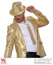 cravate sequins dorés, cravate à paillettes, cravate déguisement, accessoire déguisement, accessoire disco, cravate disco, cravate paillettes dorées, cravate or Cravate Fine Paillettes Sequins, Dorée