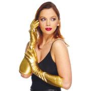 gants longs dorés, gants femme dorés, longs gants dorés, gants déguisement, gants femme déguisement, longs gants femme or Gants Métal Elastiques, Or