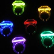 bague fluo, accessoires fluos déguisement, accessoire soirée fluo déguisement, accessoire déguisement fluo, bagues lumineuses fluos Bague Fluo Double Tube