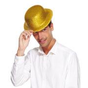 chapeaux melons, chapeaux paillettes, chapeau melon, chapeaux de fête, accessoires chapeaux melons Chapeau Melon à Paillettes, Or