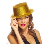 chapeaux paillettes, chapeaux hauts de forme paillettes, chapeaux hauts de forme, chapeau haut de forme, chapeaux paris, chapeaux hauts de forme Chapeau Haut de Forme à Paillettes, Or