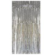 rideau de porte argent, rideau lamé, rideau à lamelles brillantes, décoration de porte brillante, rideau lamelles argent Rideau de Porte, Lamelles Argent
