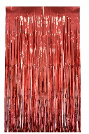 rideau de porte lamelles rouges Rideau de Porte, Lamelles Rouges