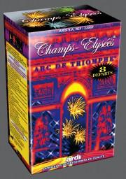 feu d'artifice, champs elysées, feu d'artifice arc de triomphe Champs Elysées, Arc de Triomphe