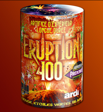 feux d'artifice automatiques, feux d'artifice de proximité, achat feux d'artifice paris, fontaines, feux d'artifices ardi Feux d'Artifices, Fontaines, Eruption 400