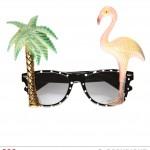 lunettes de déguisement, lunettes de fêtes, lunettes soirée déguisée, accessoires lunettes, lunettes pas chères,lunettes fantaisie, lunettes tropicales, lunettes hawaï, lunettes tropical flamand rose Lunettes Hawaï Tropicales, Flamand Rose
