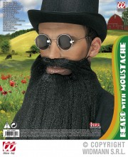 fausse barbe, fausses moustaches, postiche, barbe postiche, fausse barbe réaliste, fausse barbe de déguisement Barbe Noire