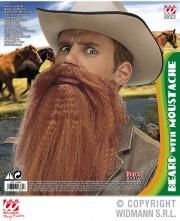 fausse barbe, fausses moustaches, postiche, barbe postiche Barbe avec Lèvres intégrées, 4 couleurs