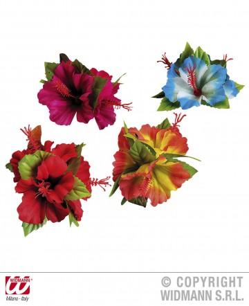 fleur hawaïenne pour cheveux, accessoire hawaïen, accessoire hawaï déguisement, déguisement hawaï, barrette hawaï Barrette Fleurs Hibiscus