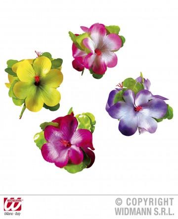 fleur hawaïenne pour cheveux, accessoire hawaïen, accessoire hawaï déguisement, déguisement hawaï, barrette hawaï Barette Fleur Orchidée